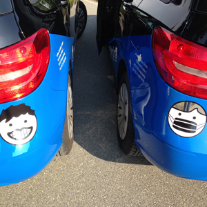 Fahrzeugbeschriftung, teilweise voll
